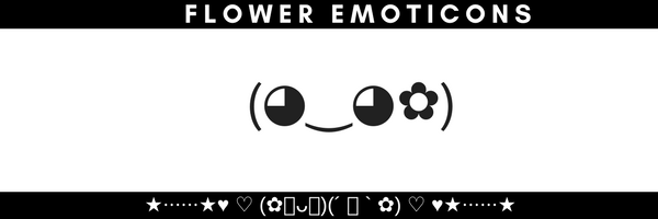 Kawaii Flower Girl Emoticons Emoji ʘʘ Cute Kaomoji