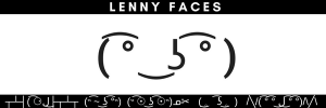 Le Lenny Face Emoticon