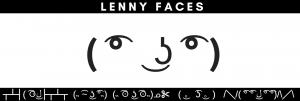 Le Lenny Face Emoticon