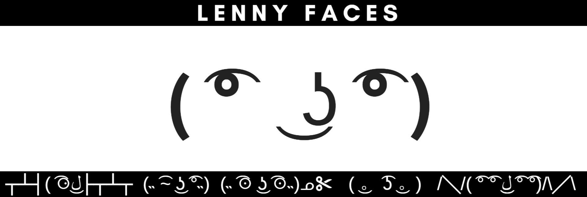 Lenny Face List