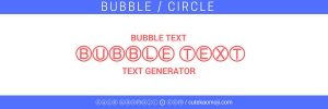 circle unicode text creator