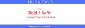 bold italic slanted text generator